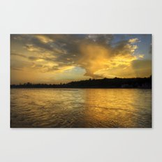 when the light turns to gold... Canvas Print