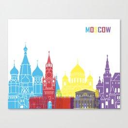Moscow skyline pop Canvas Print