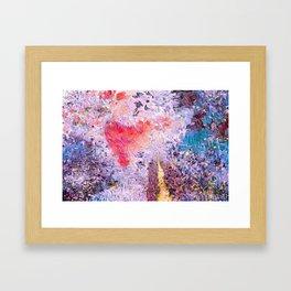Lavender Hearts Framed Art Print