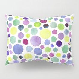 Cold watercolor drops Pillow Sham