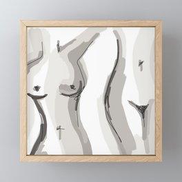 Nude Belly Framed Mini Art Print