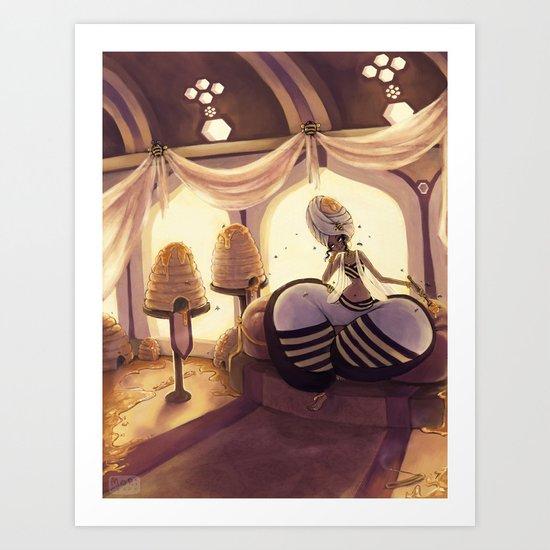 The Queen Bee Art Print