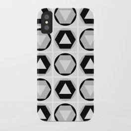Classic Shapes Black & White iPhone Case