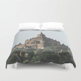 Bagan Temples Duvet Cover