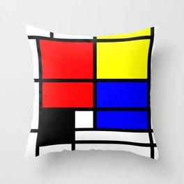 Mondrianista Throw Pillow