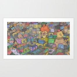 Record Shopping Art Print