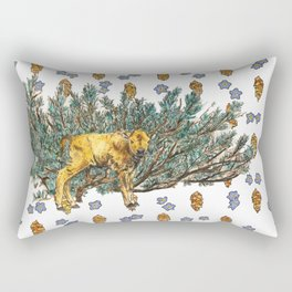 Red Dog and Sage in Lamar Valley Rectangular Pillow