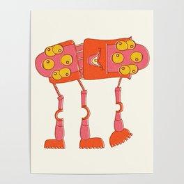 Robot Alien Monster No 073 Poster