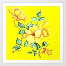 YELLOW BLOSSOM ON YELLOW Art Print