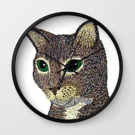 Curly Cat Wall Clock