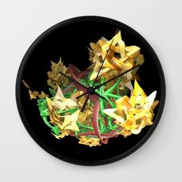 Yellow Stars Wall Clock