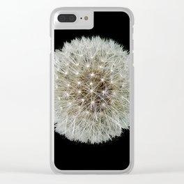Dandelion Love Clear iPhone Case