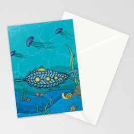 Nautilus under the sea Stationery Cards