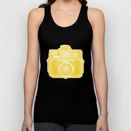 I Still Shoot Film Holga Logo - Sunshine Yellow Unisex Tank Top