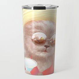 Sunglass Cat Travel Mug