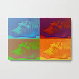 Pop Art Hippos - Help Fund Education for impoverished Orphans in Malawi, Africa #MoreThanAid Metal Print