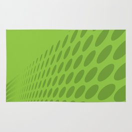 GREEN DOTS ON A GREEN BACKGROUND Abstract Art Rug