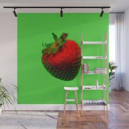 Strawberry Green - Photo Wall Mural