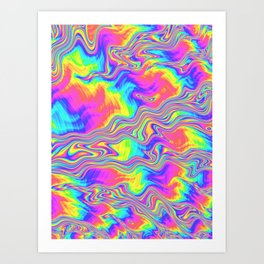 Rainbow Bliss Art Print