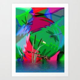 Dancing Dragons. Art Print