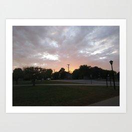 Sunlit Sky Art Print