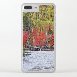 River's Edge in the Fall Clear iPhone Case