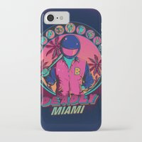 hotline miami iPhone & iPod Cases featuring Deadly Miami by Donnie