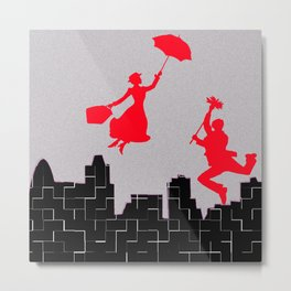Mary Poppins squares Metal Print