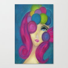 Blue Face Girl w/o Quote Canvas Print