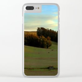 Last Moments of Sunset Glow, Sonoma County Hills Clear iPhone Case