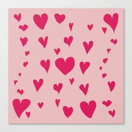 Imperfect Hearts - Pink/Pink Canvas Print