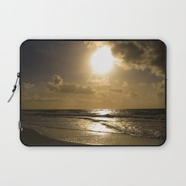 Clouds over the sea of Sylt Island Laptop Sleeve