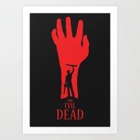 evil dead Art Prints featuring Evil Dead by Alan Coughlan