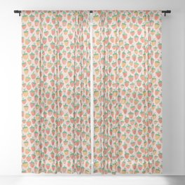 Painted Strawberries Sheer Curtain