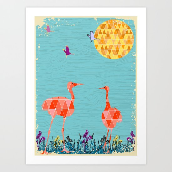 Flamingo Park Art Print
