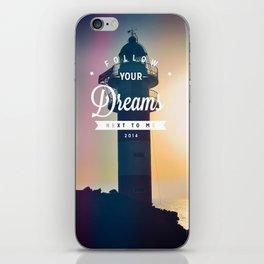 Follow Your Dreams (Faro) iPhone Skin