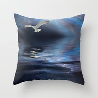 storm Throw Pillows featuring Storm by CreativeByDesign