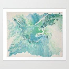 Breathe Blue Abstract Print Art Print