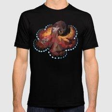 Geometric Octopus MEDIUM Black Mens Fitted Tee