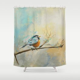 Little Bird 3473 Shower Curtain