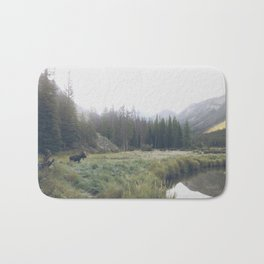 Morning Meadow Moose Bath Mat
