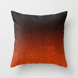 Orange & Black Glitter Gradient Throw Pillow