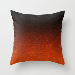 Orange & Black Glitter Gradient Throw Pillow