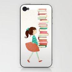 Library Girl iPhone & iPod Skin