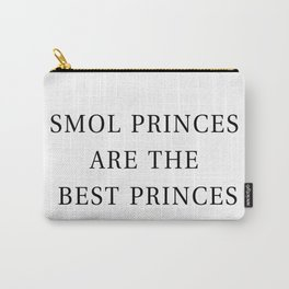 Smol Bookish YA Princes White Carry-All Pouch