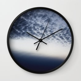 Drama above the Fjord Wall Clock