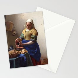 Jan Vermeer-The Milkmaid Stationery Cards