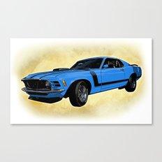 Ford Mustang Boss 302 - Grabber Blue Canvas Print