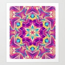 Flower Of Life Mandala (Blossoming Soul) Art Print