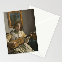 "Johannes Vermeer ""The Guitar Player"" Stationery Cards"